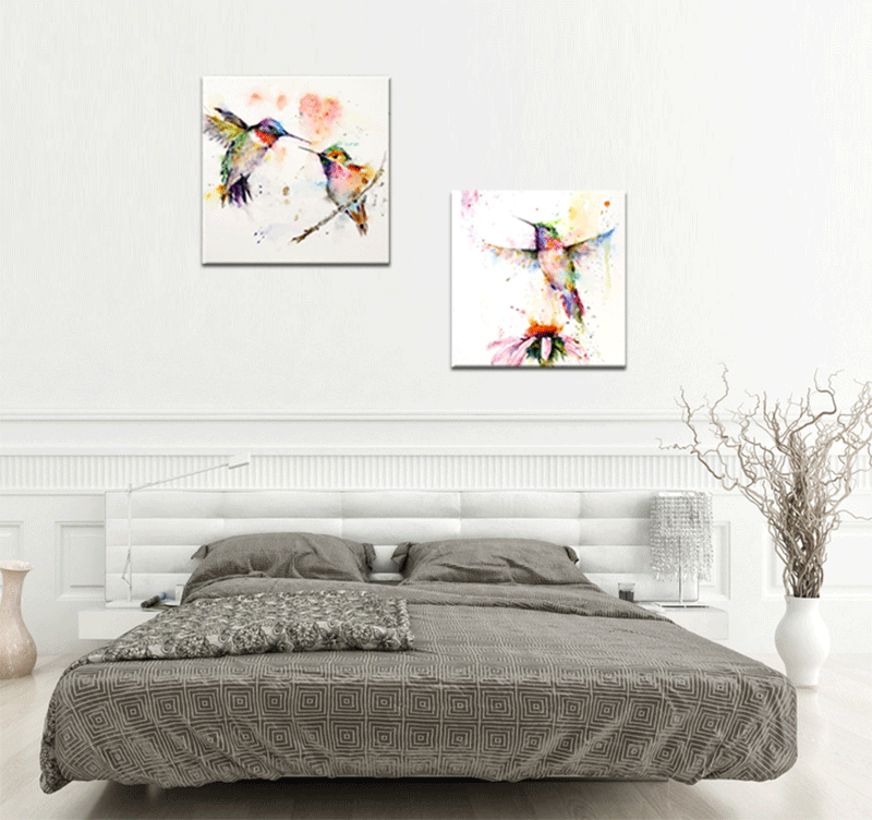 flying birds color tableau moderne - Tableaux Modernes Colors