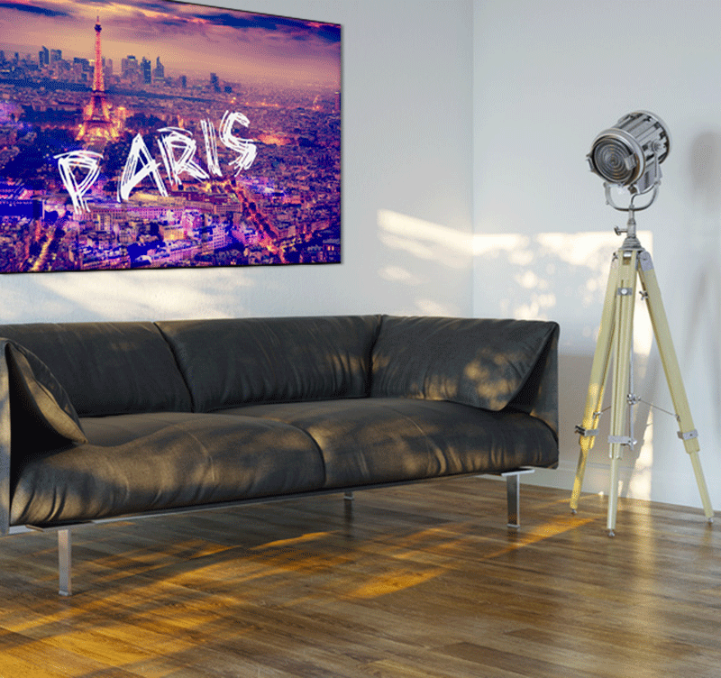 paris by night tableau ville. Black Bedroom Furniture Sets. Home Design Ideas