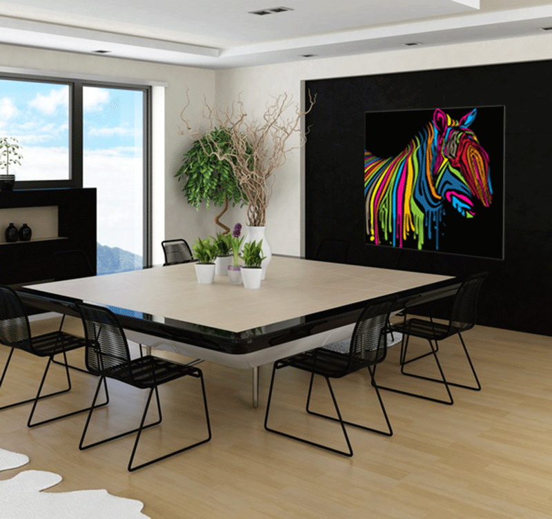 tableau pop art zebra flash. Black Bedroom Furniture Sets. Home Design Ideas