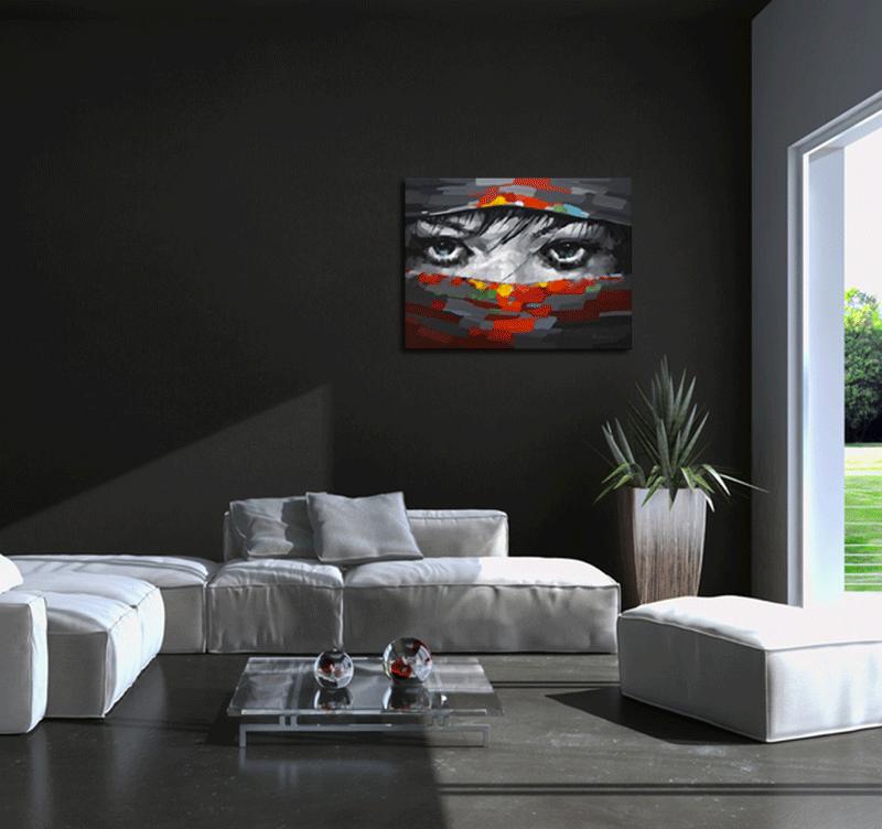 Beautiful eyes tableau peinture abstrait - Tableau original design ...