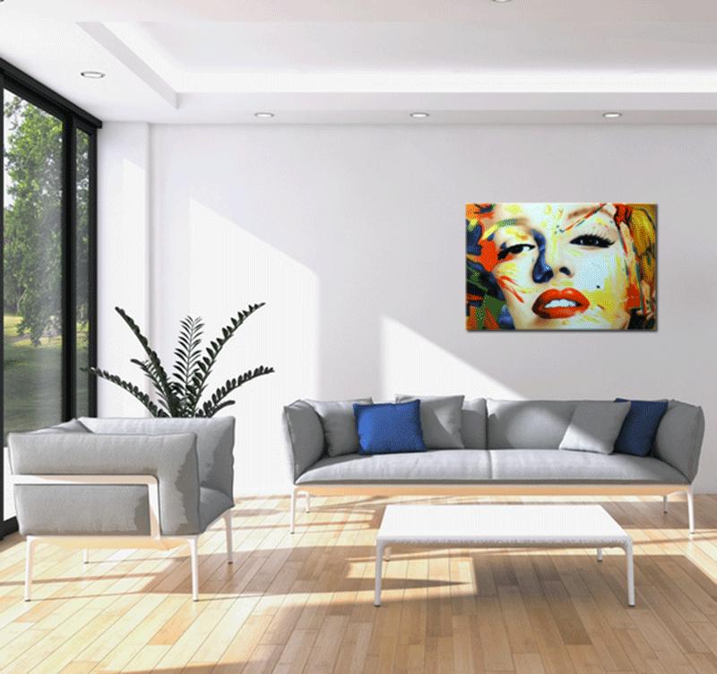 tableau peinture marilyn monroe design color. Black Bedroom Furniture Sets. Home Design Ideas